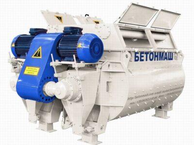 Купить бетоносмеситель двухвальный БП-2Г-4500