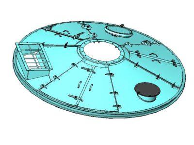 Крышка чаши бетоносмесителя